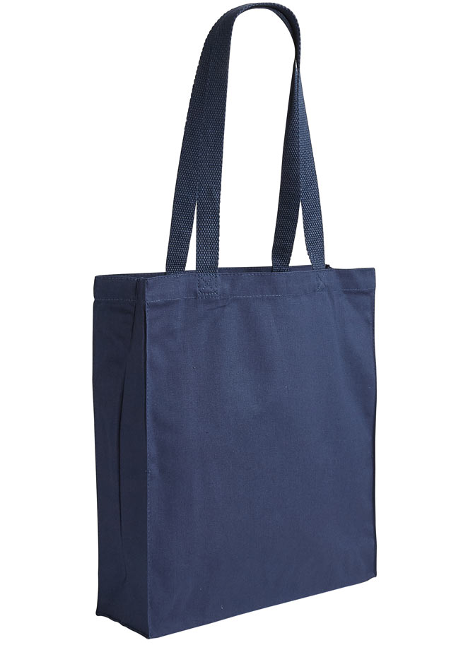 blue canvas shopper bag