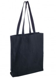 black canvas bag printed
