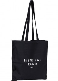 black custom printed cotton tote cc06