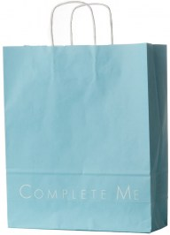 blue printed paper bag pa14