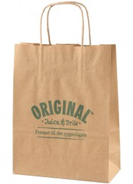 brown carrier bag with logo print pa07