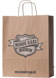 brown printed paper bag pa12