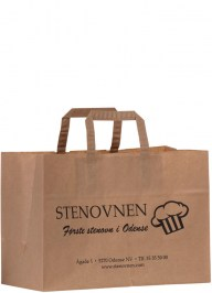 brown take away kraft paper bag pa18