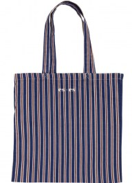 cotton tote bag with stripes cc35
