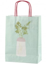 green paper carrier bag pa09