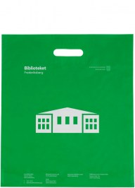 green printed plastic bag ld32