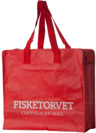 red laminated bag with your logo