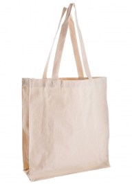 natural canvas bag for life