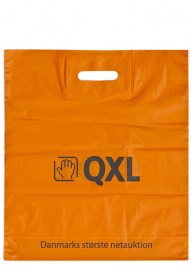 orange printed plastic bag ld09