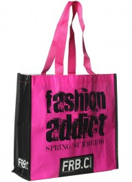 pink shopping bag pp woven