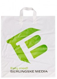plastic bag with loop handles ld05