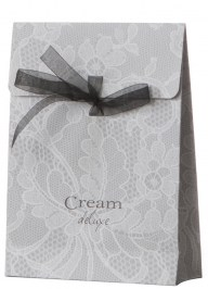 printed gift bag organza ribbon