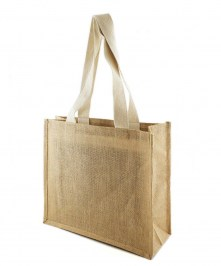 printed jute bag long handles