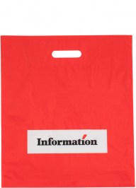 printed plastic bag red ld31