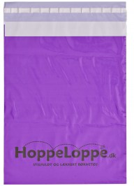 purple custom postage bag fp05