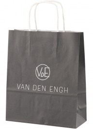 small black printed paper bag pa01
