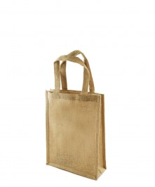 small printed jute bag