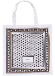 white printed tote bag cc08